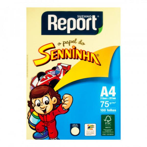 PAPEL OFICIO REPORT SENINHA C/ 100 FLS AMARELO