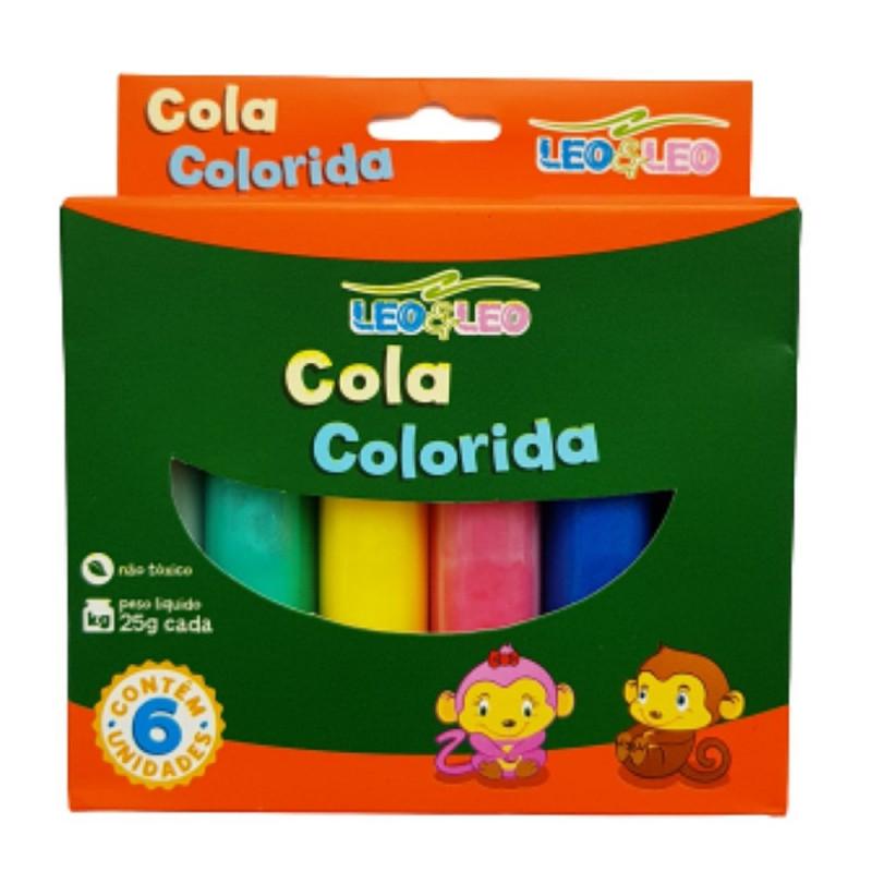 COLA COLORIDA C/6 25G LEO LEO