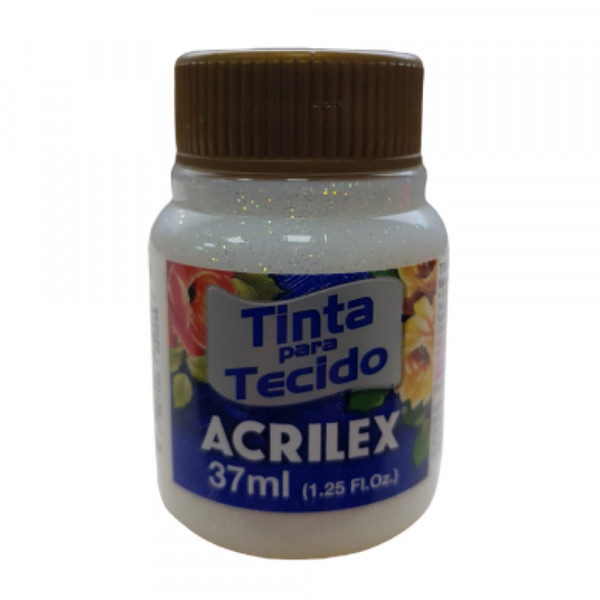 TINTA P/ TECIDO C/ GLITTER CRISTAL
