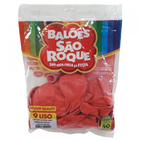 BALAO LISO N.09 C50 VERMELHO QUENTE SAO ROQUE