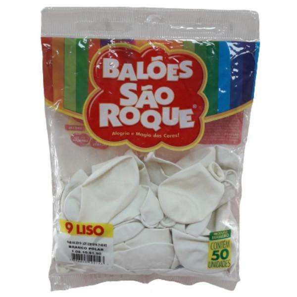 BALAO LISO N.09 C/50 BRANCO POLAR SAO ROQUE