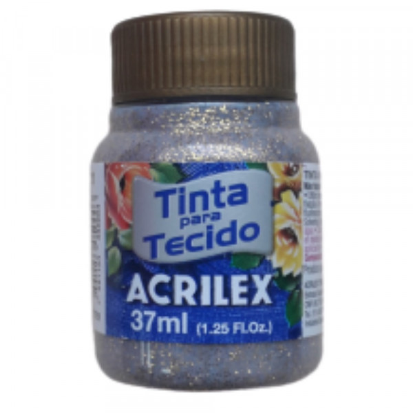TINTA P/ TECIDO C/ GLITTER OURO