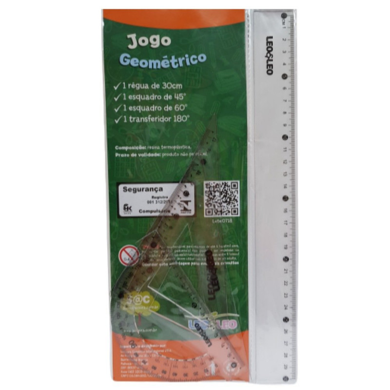 KIT ESCOLAR GEOMETRICO 1° GRAU 4PCS