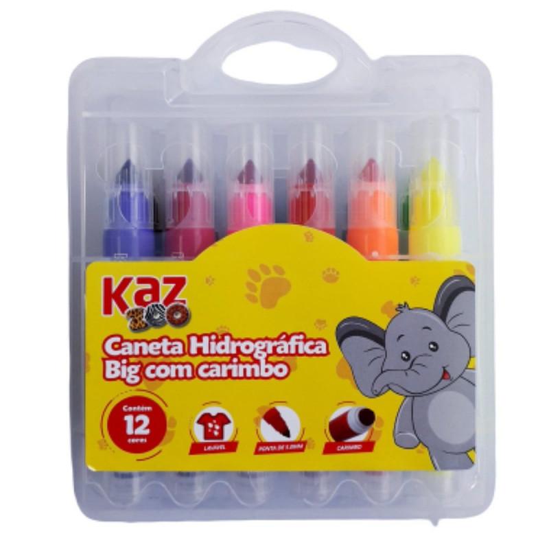 CANETA HIDROGRAFICA BIG C/ CARIMBO C/12 KZ205-12