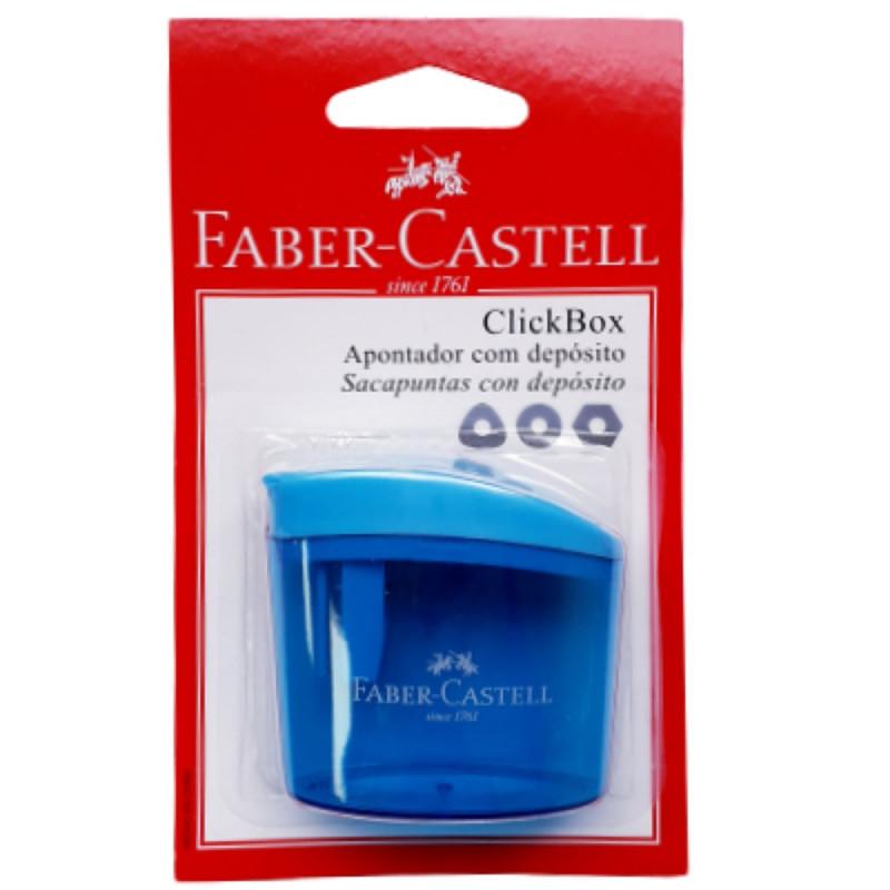 APONTADOR C/ DEPOSITO BLISTER CLICKBOX FABER CASTELL