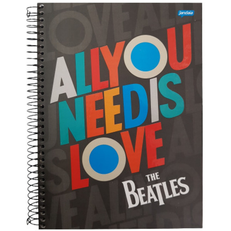 CADERNO 10 MATERIAS THE BEATLES JANDAIA