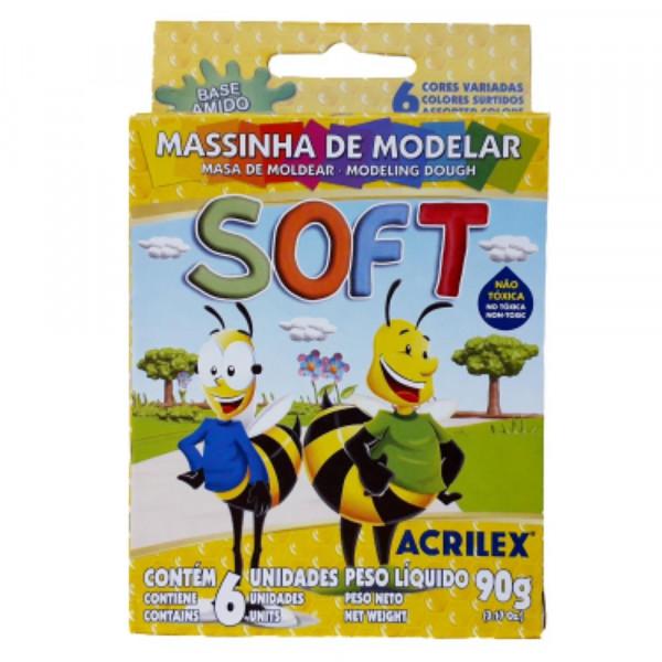 MASSA DE MODELAR SOFT C/ 6 90GR