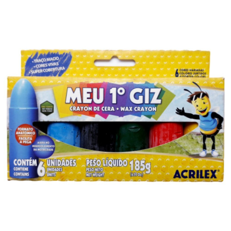 MEU PRIMEIRO GIZ C/ 6 ACRILEX