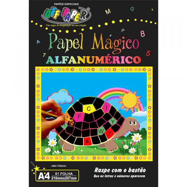 PAPEL MÁGICO ALFANUMÉRICO A4
