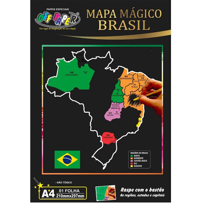 MAPA MÁGICO BRASIL A4 OFF PAPER