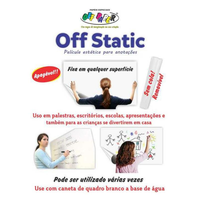 OFF STATIC FILME ESTATICA P/ ANOTACOES 60X100