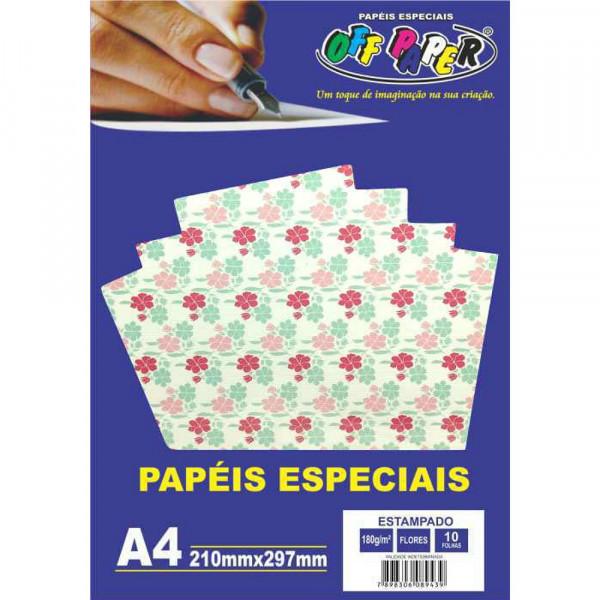 PAPEL ESTAMPADO FLORES 180G 10FLS