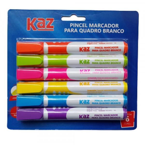 PINCEL MARCADOR P/ QUADRO BRANCO C/6 CORES KZ3002