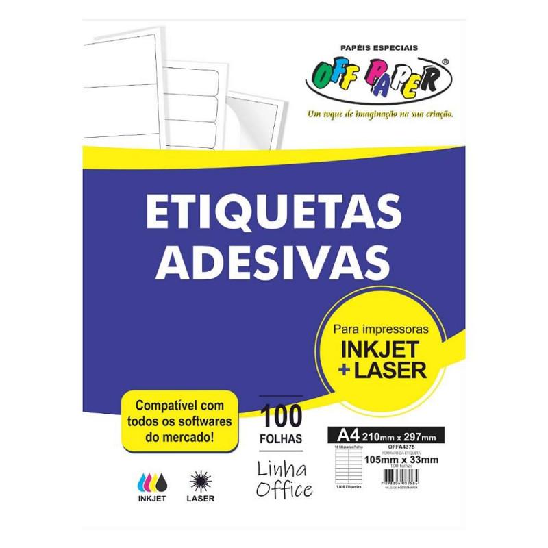 ETIQUETA ADESIVA OFFA4375 18 ETIQUTAS OFF PAPER