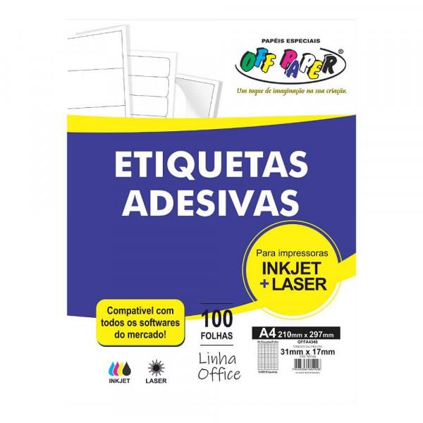 ETIQUETA ADESIVA OFFA4348 96 ETIQUTAS OFF PAPER