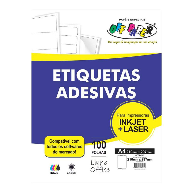 ETIQUETA ADESIVA OFFA4367 01 ETIQUTA A4 OFF PAPER