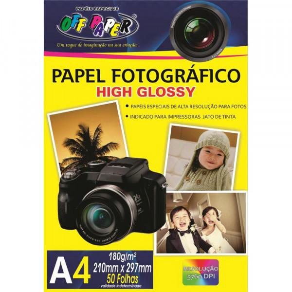 PAPEL FOTOGRAFICO HIGH GLOSSY 180G 50 FLS