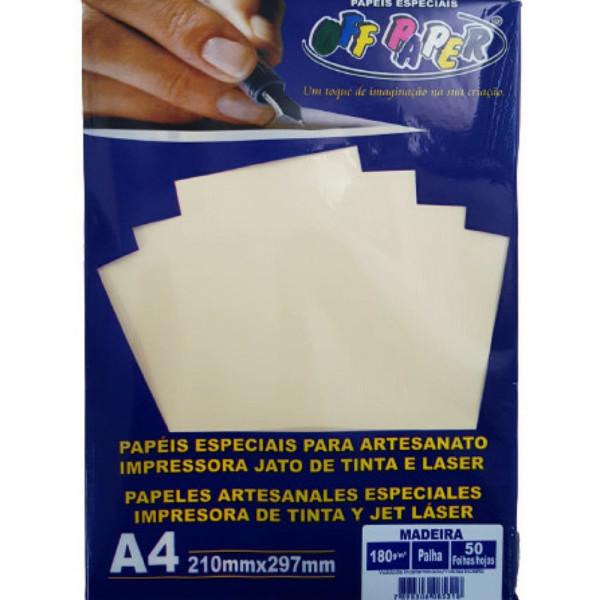 PAPEL MADEIRA A4 OFF PAPER C/ 50 PALHA