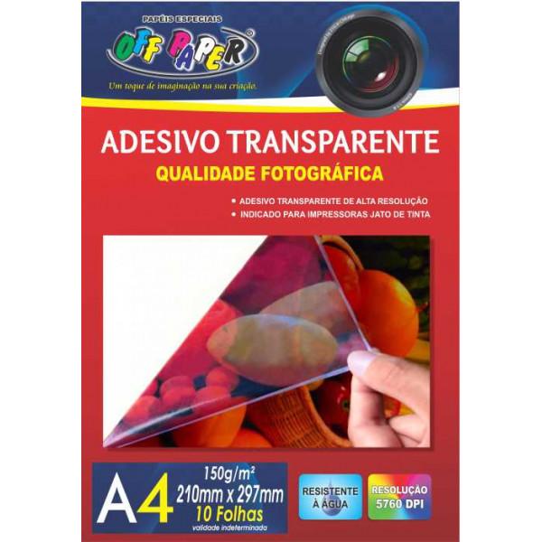 ADESIVO TRANSPARENTE 150G A4 10FLS