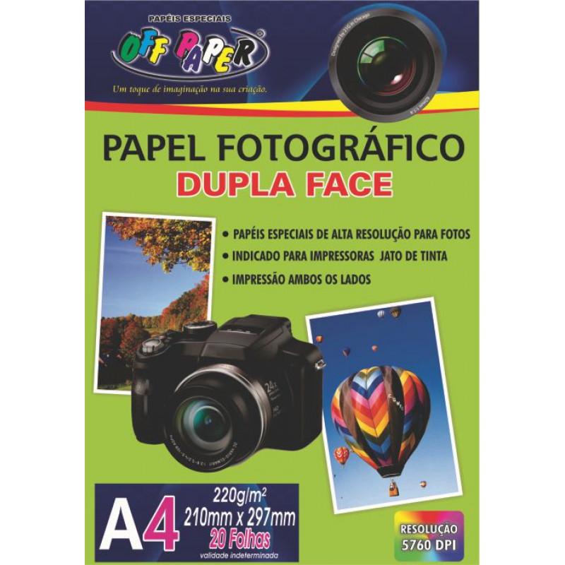 PAPEL FOTOGRÁFICO DUPLA FACE A4 220G 20FLS