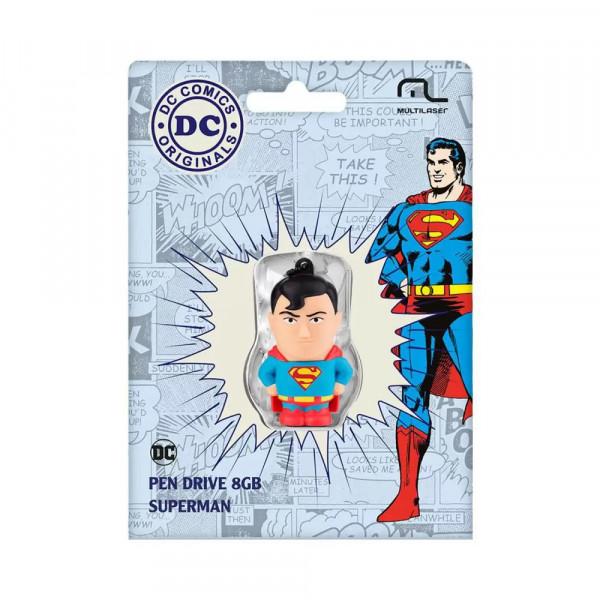 PEN DRIVE 8GB DC COMICS SUPER HOMEM MULTILASER PD
