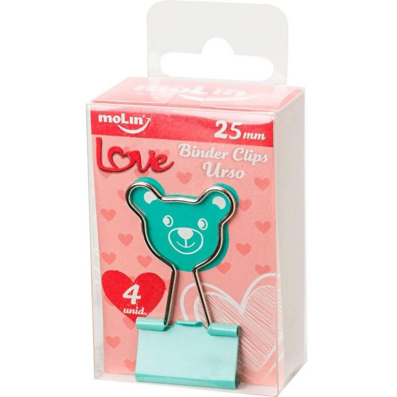 BINDER CLIPS URSO 25MM C/ 4 MOLIN