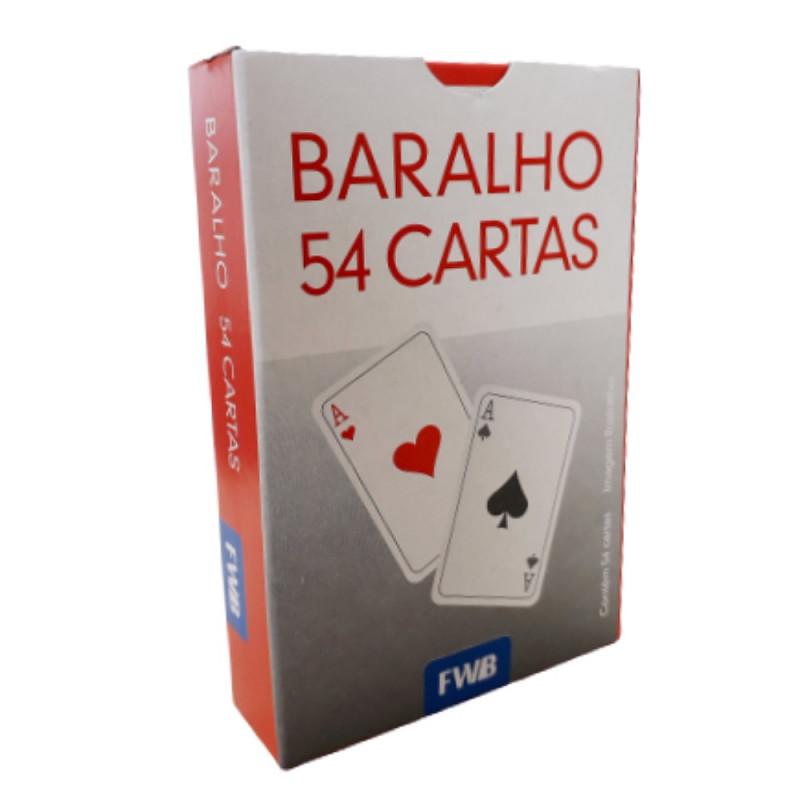 BARALHO DE PAPEL C/54 CARTAS