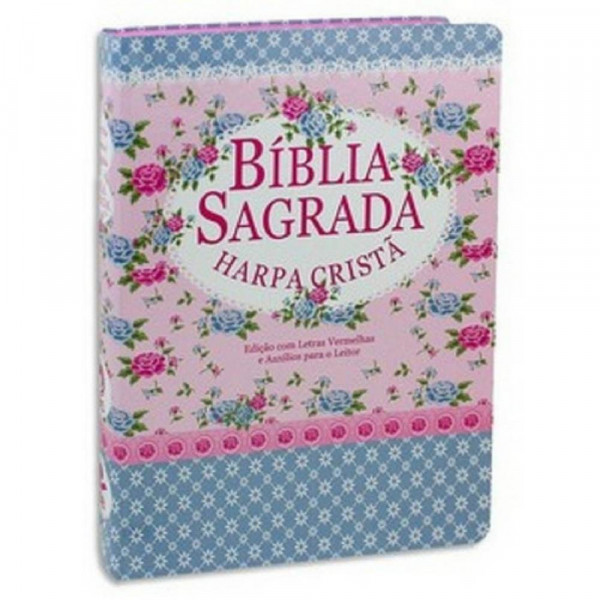 BIBLIA SAGRADA HARPA CRISTA - FLRORIDA/AZUL