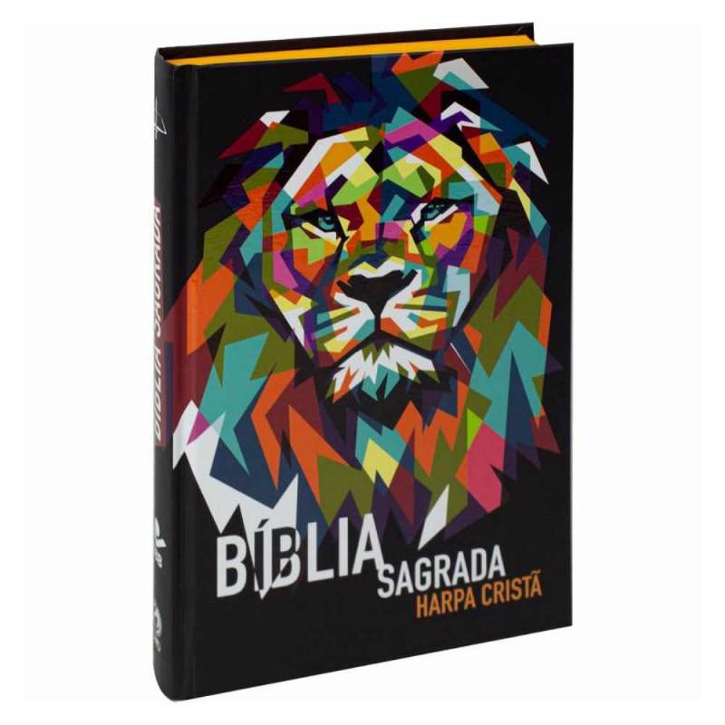 BIBLIA SAGRADA HARPA CRISTA IMPACTAR CP DURA - LEAO
