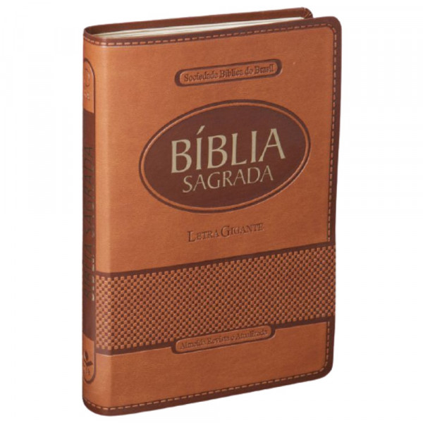 BÍBLIA SAGRADA LETRA GIGANTE - MARROM CLARO