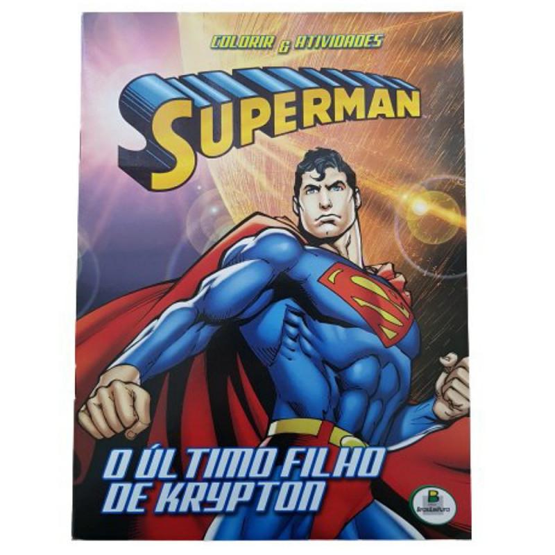 COLORIR E ATIVIDADES (GD) - SUPERMAN: ULTIMO FILHO