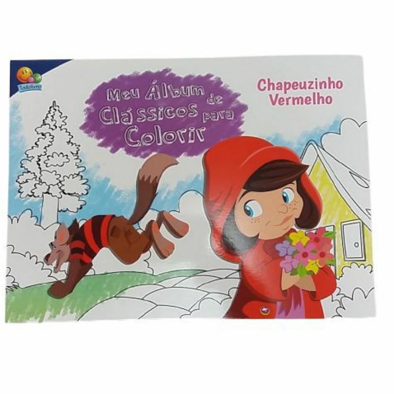 MEU ALBUM DE CLASSICOS P/COLORIR: CHAPEUZINHO VERM