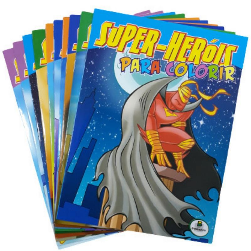 SUPER HEROIS PARA COLORIR(ECO) KIT C/10 UND