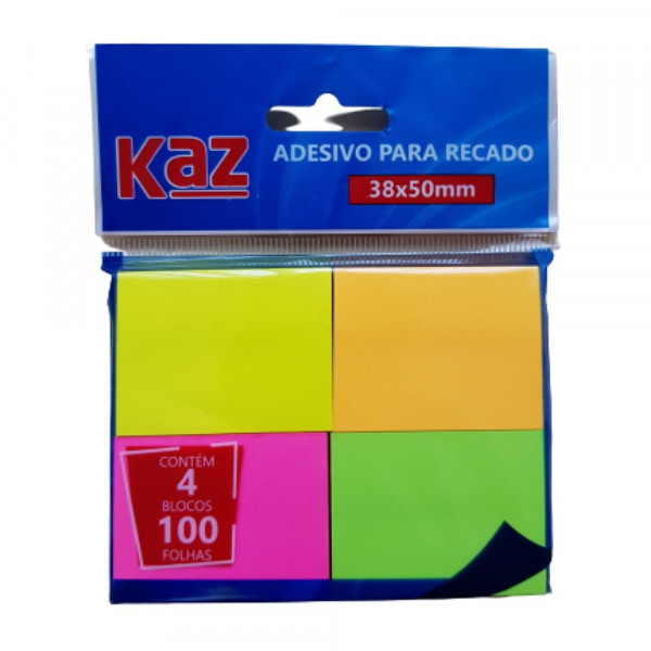 ADESIVO P/ RECADO NEON 38X50MM KZ2005N