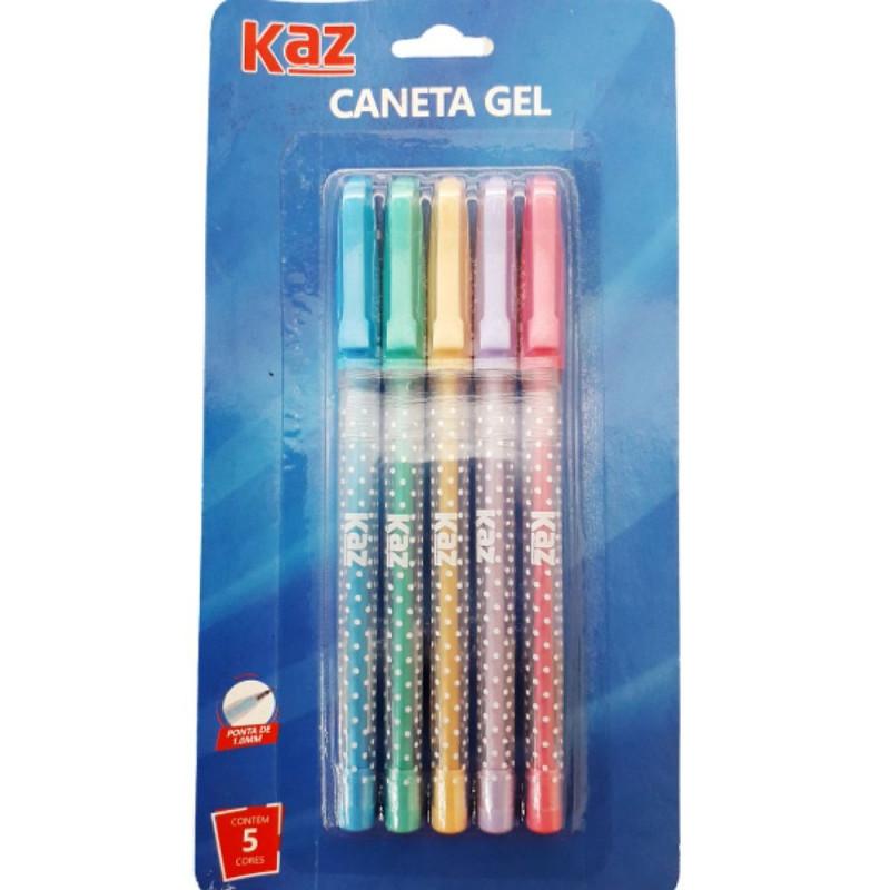 CANETA GEL PASTEL C/5 KZ98122