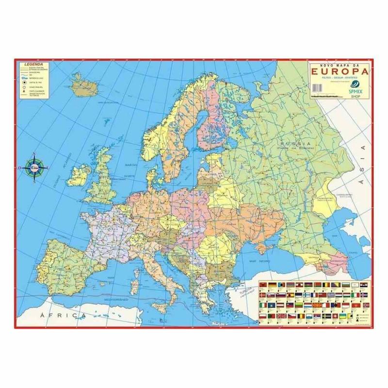 MAPA DOBRÁVEL EUROPA POLÍTICO
