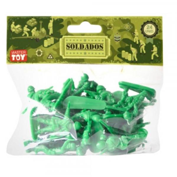 BONECO SOLDADO MILITAR 24PCS