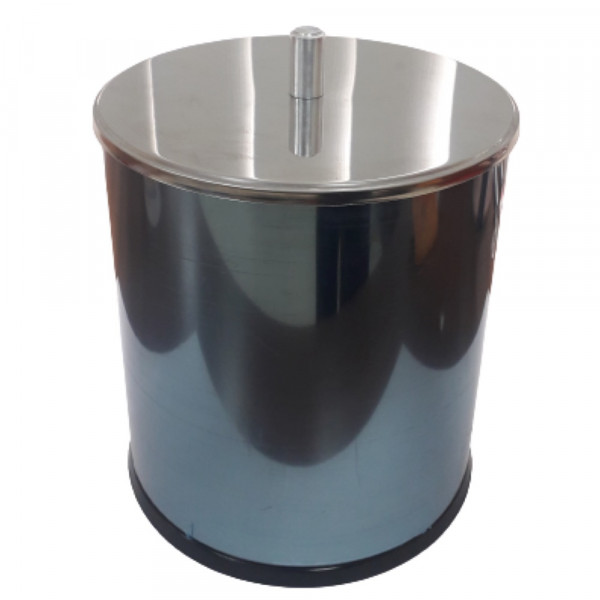 LIXEIRA INOX C/ TAMPA BASCULANTE 5,4L - BRINOX