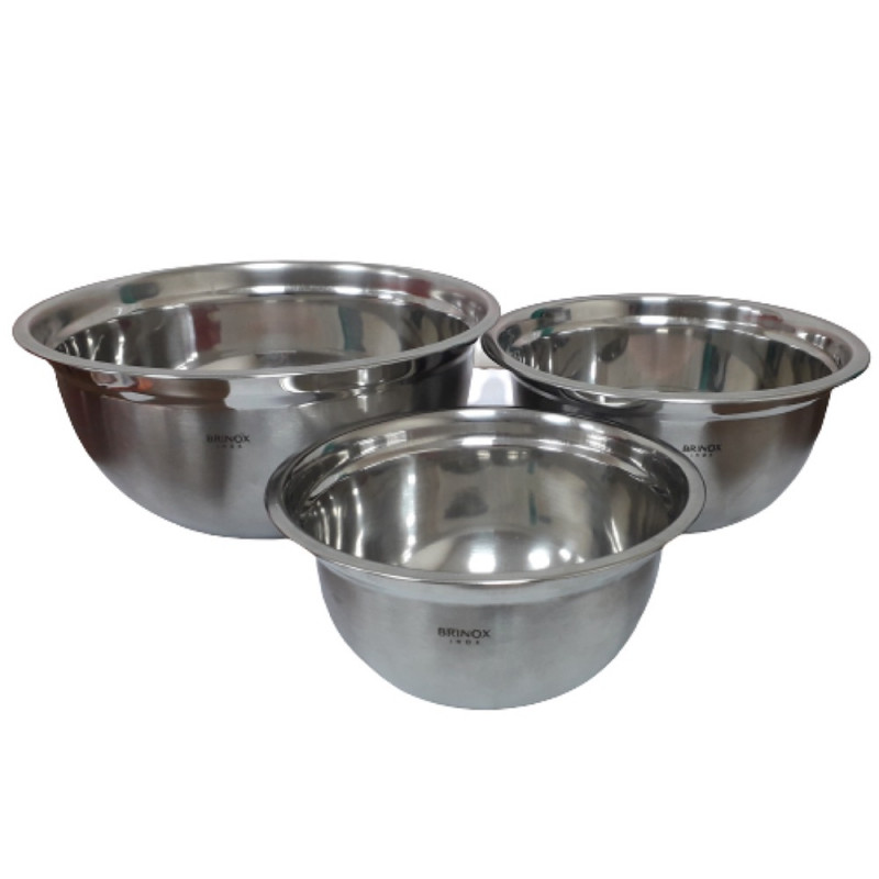 CJ DE TIGELAS INOX 3 PCS SUPREMA