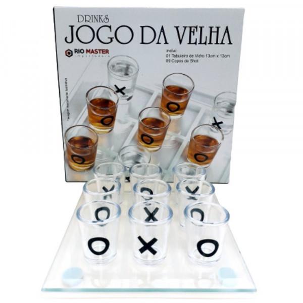 JOGO DA VELHA DRINKS C/ TABULEIRO